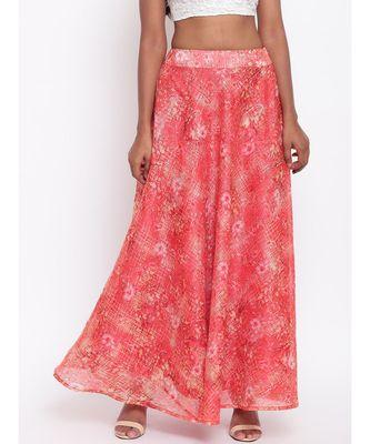 Red Foil Organza Skirt