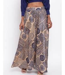 Blue Foil Silk Skirt