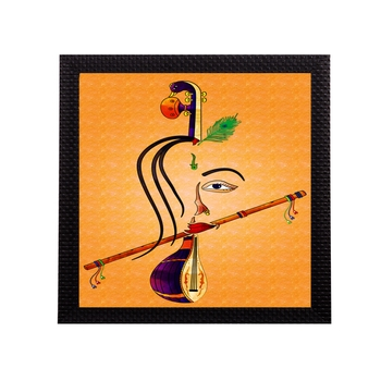 Lord Krishna Matt Texture UV Art Painting