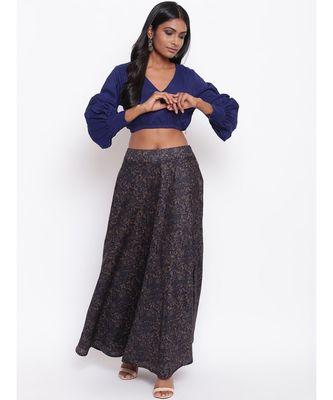 Blue Jaal Skirt-Set