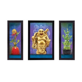 Set Of 3 Lord Buddha Satin Matt Texture UV Art Painting