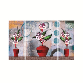 Set of 3 Botanical Theme Premium Canvas Painting