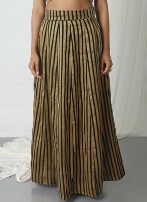 Black Stripe Skirt