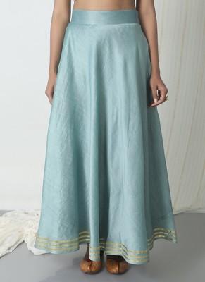 Grey Chanderi Gota Skirt