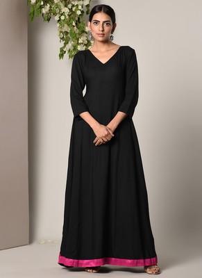 Black Pink Border Dress