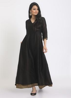 Black Golden Thick Stripe Suit Dress
