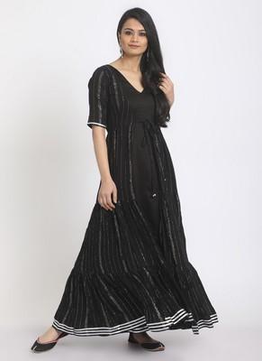 Black Crinkled Jacket Dress Set