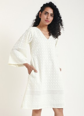 white Chicken Bell Dress
