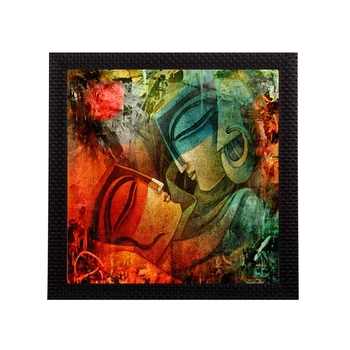 Abstract Loving Couple Satin Matt Texture UV Art Painting