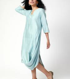 Powder Blue Cowl Dress
