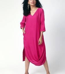 Pink Cowl Dress