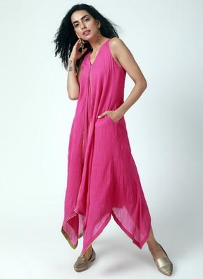 Pink Asymmetric Dress