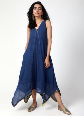 Blue Asymmetric Dress