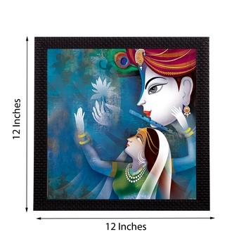 Radha Krishna Satin Matt Texture UV Art Painting