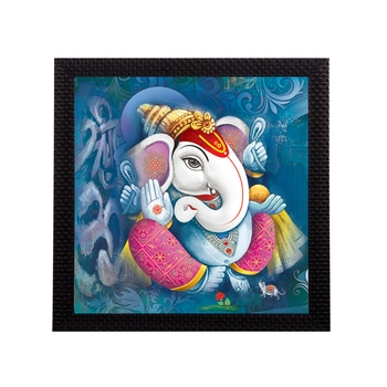 Lord Ganesha Satin Matt Texture UV Art Painting