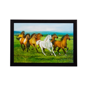 Running 7 Lucky Horses Satin Matt Texture UV Art Painting