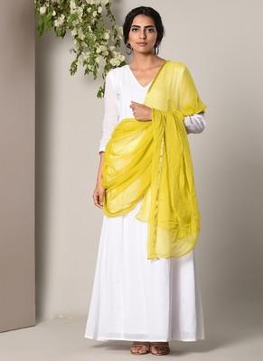yellow Chiffon Dupatta