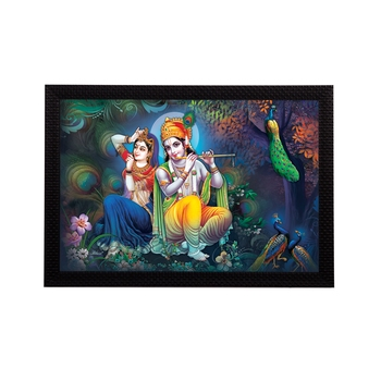 Radha Krishna Satin Matt Texture UV Art Painting