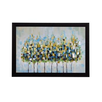 Abstract Trees Satin Matt Texture UV Art Painting