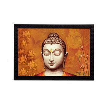 Spritual Lord Buddha Satin Matt Texture UV Art Painting