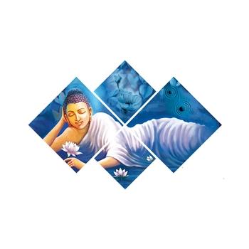 Set of 4 Resting Lord Buddha Premium Canvas Painting