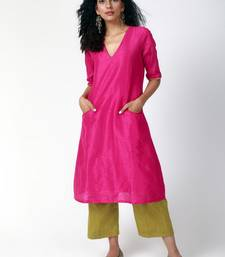 Pink Green Silk Kurta-Pant