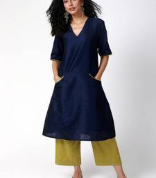 Blue Green Silk Kurta-Pant