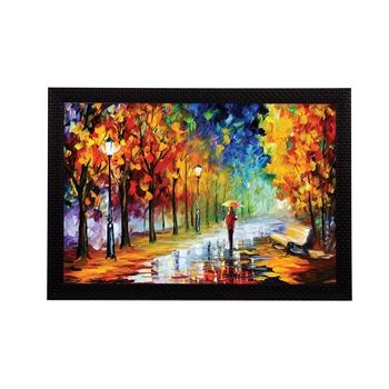 Lovely Rain View Satin Matt Texture UV Art Painting