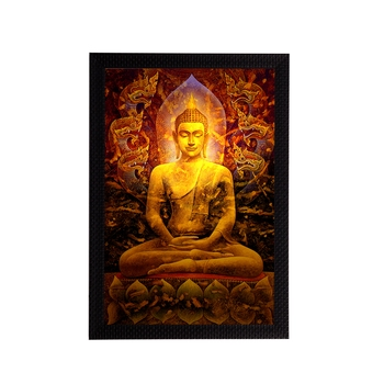 Spritual Lord Buddha Satin Matt Texture UV Art Painting