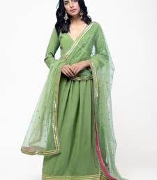 Green Gota Angrakha Set