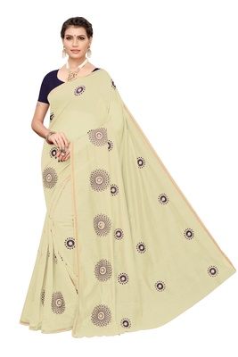 Chiku embroidered chanderi silk saree with blouse