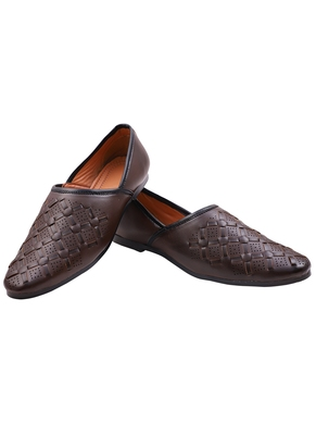Treemoda Casual Ethnic Brown Juttis Shoes For Men