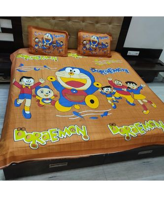 100% Cotton Bedsheet Cartoon Printe Double Bedspread bedsheets with Pillow Cover