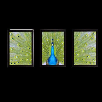 Set Of 3 Gorgeous Geometrical Flower Satin Matt Texture UV Art Painting