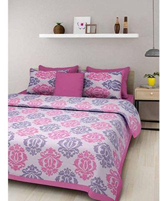 Cotton Bedsheet Indian Sanganeri Jaipuri Print with Pillow Cover