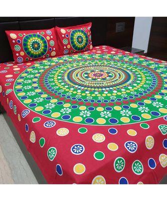 100% Cotton Sanganeri Jaipur Cotton Bedsheet Bedcover Bedspread
