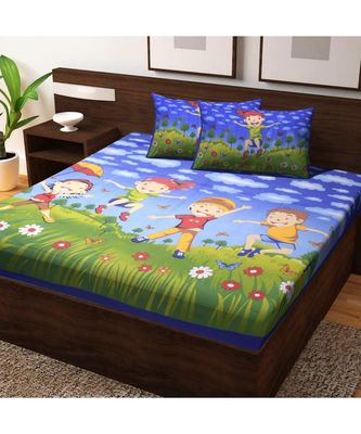 Cotton Bedding Bedsheet with 2 Pillow Cover Bedding Bedcover