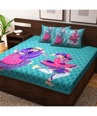 Indian Cotton Hand Screen Printed Bedding Bedspread Bedsheet