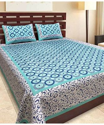 Cotton Printed Bedsheet with 2 Pillow Cover Bedspread Sangneri Print