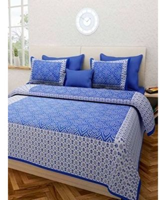 100% Cotton double Bed Bedsheet with Pillow Cover Bedding Bedspread