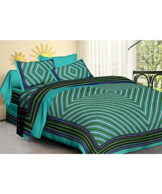 Handmade 100% Cotton Bedding Double Bedsheet with Pillow Cover bedspread