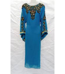 Sky Blue Designer Farasha