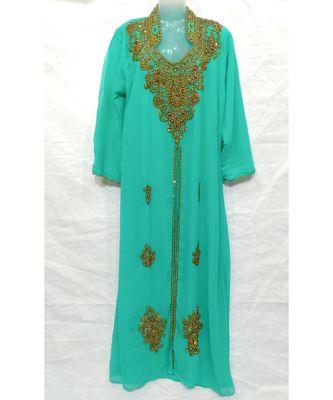 Shree Green Georgette Abaya