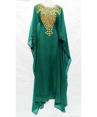 SHREE GREEN GEORGETTE ABAYA