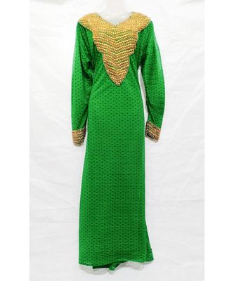 GREEN Hand Embroidery Stitched KAFTAN