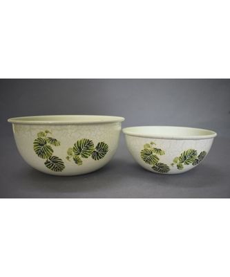 Leaf Print Bowl Set