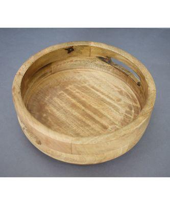 Wooden Fruit cum Snack Bowl