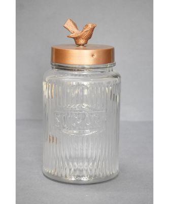 Bird Lid Glass Jar