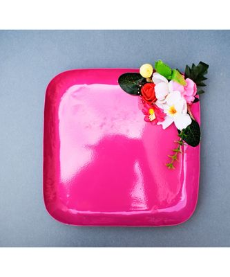 Color Palatte Square Trinket Tray - Pink
