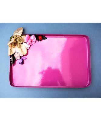 Color Palatte Rectangle Trinket Tray - Pink